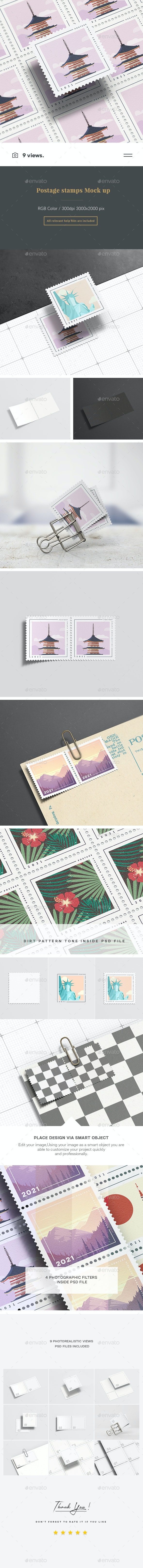 Postage Stamps Mock Up - Miscellaneous Print