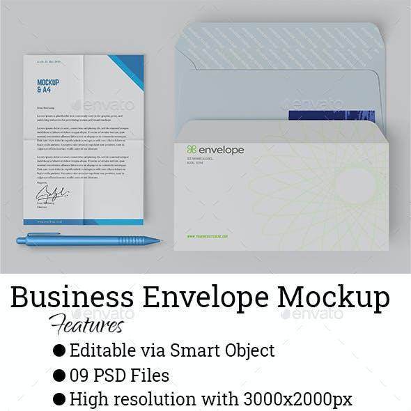 Business Envelope Mockup