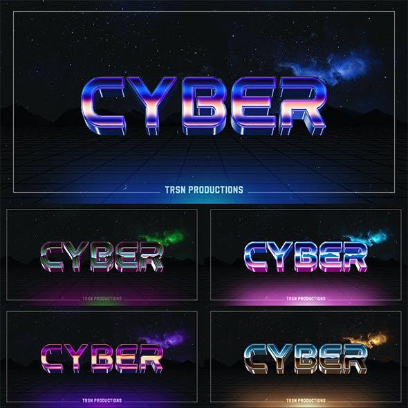 12 Futuristic 3D Text Style
