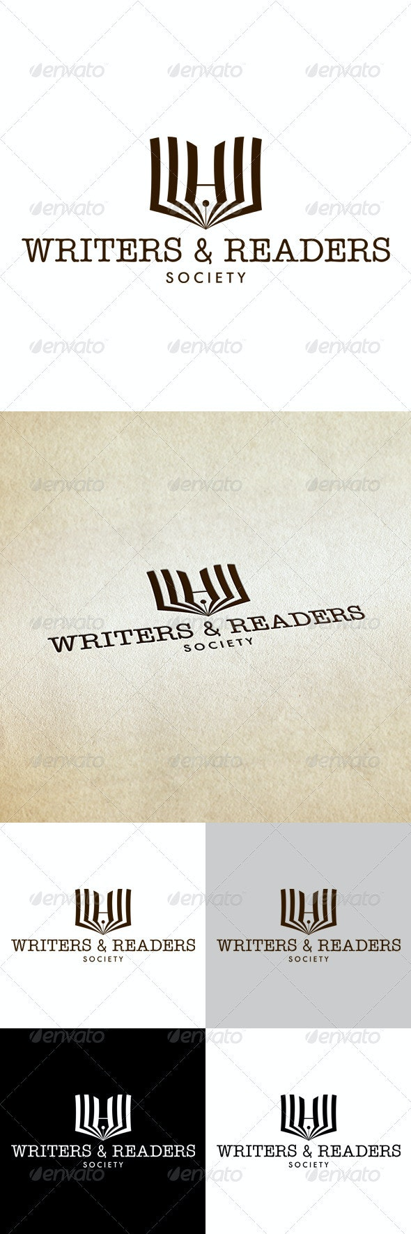 Writers & Readers - Objects Logo Templates