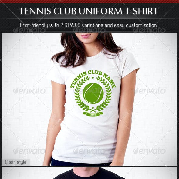 Tennis Club Uniform T-Shirt Template