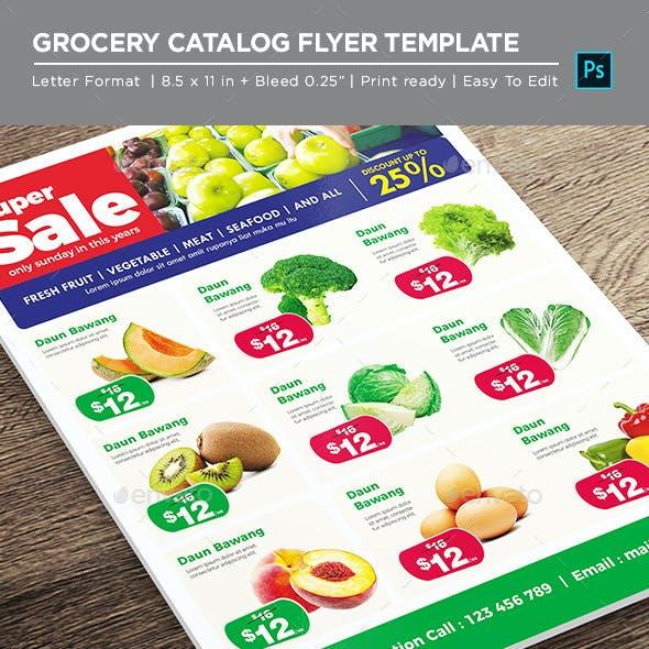 Supermarket Product Catalog Flyer