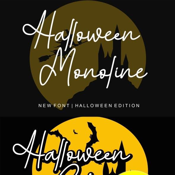 Halloween Monoline