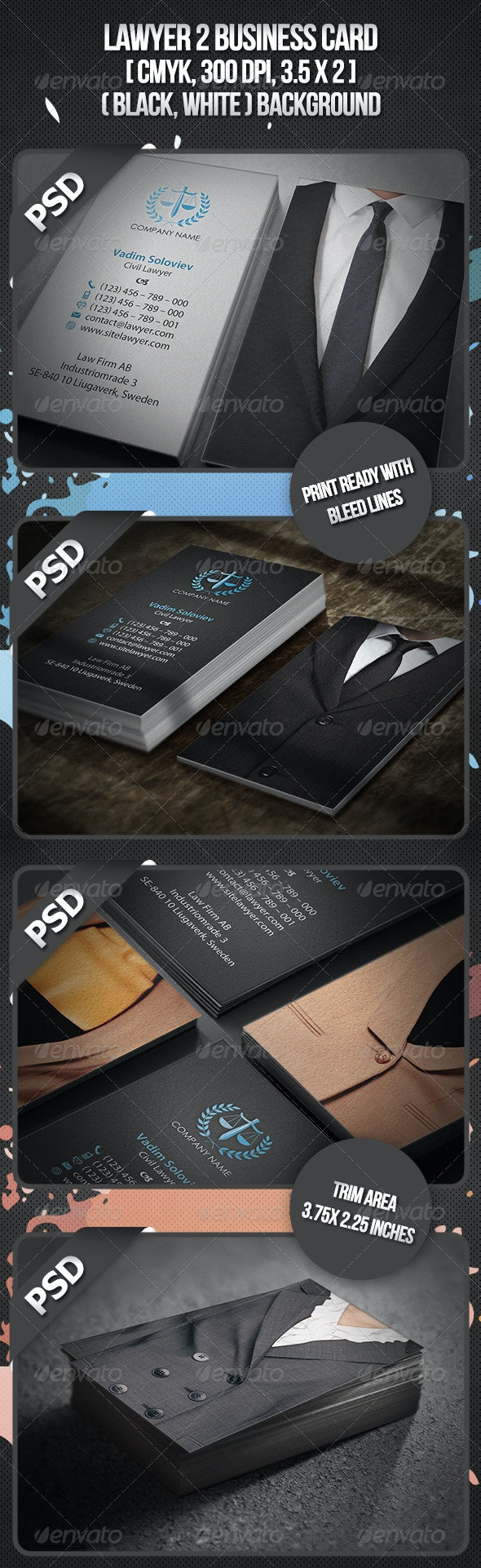 Lawyer 2 Business Card - Business Cards Print Templates