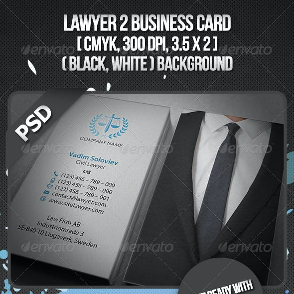 Lawyer 2 Business Card