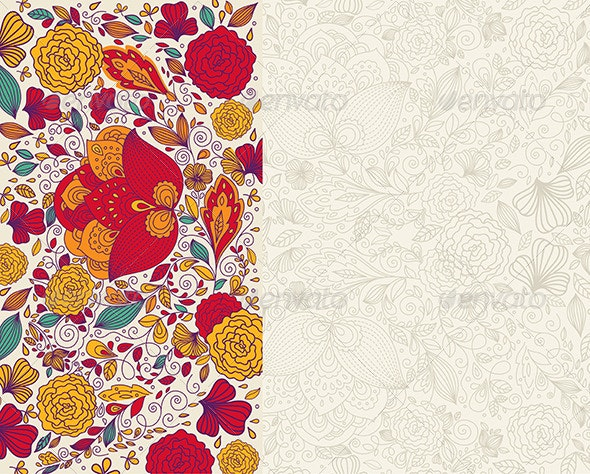 Vector floral background - Seasons/Holidays Conceptual