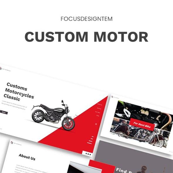 Custom Motor Keynote Template