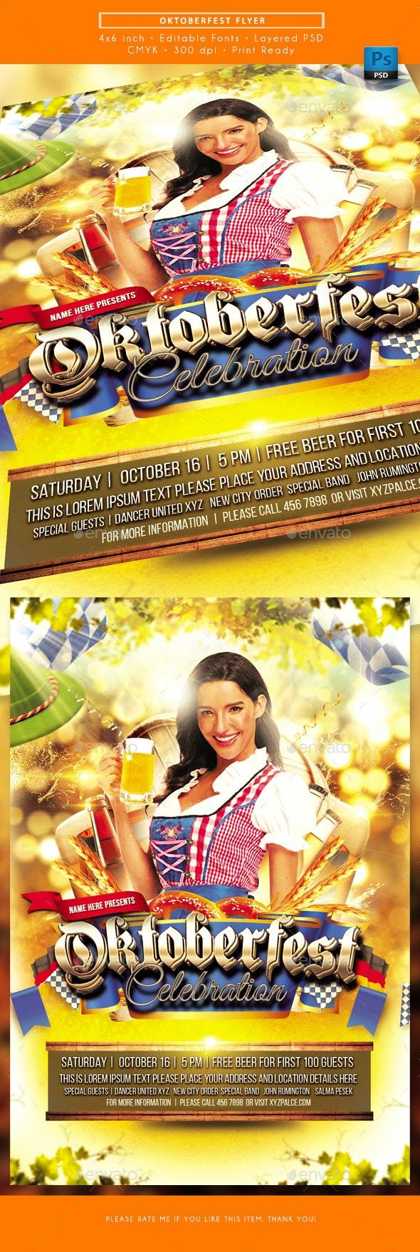 Oktoberfest Celebration Flyer - Events Flyers