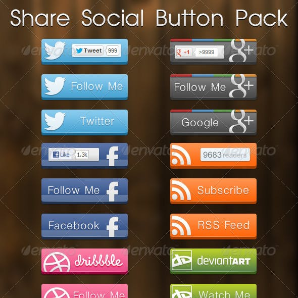 Share Social Button Pack