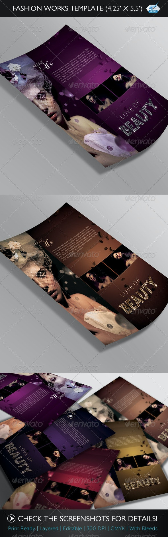 Fashion Works Flyer Template  - Clubs & Parties Events