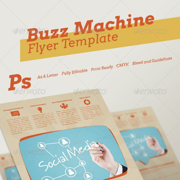 Buzz Machine Flyer Template