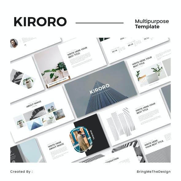 KIRORO - Minimal Keynote Template