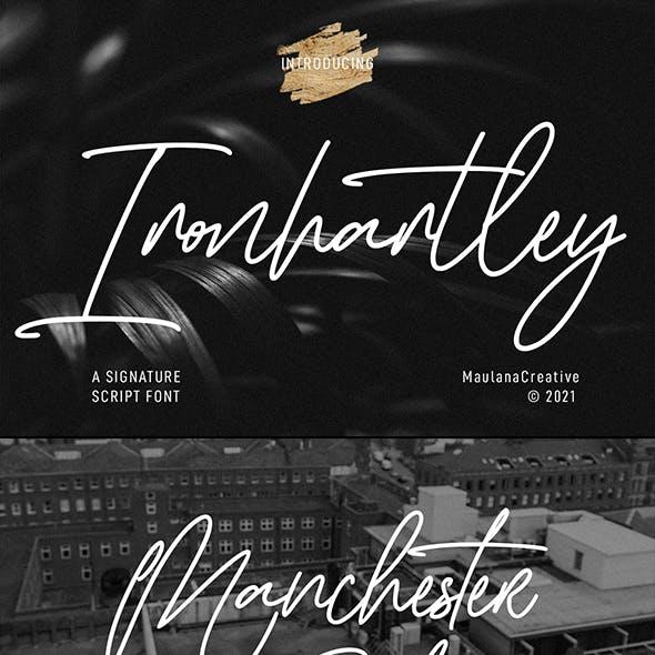 Ironhartley Script Font