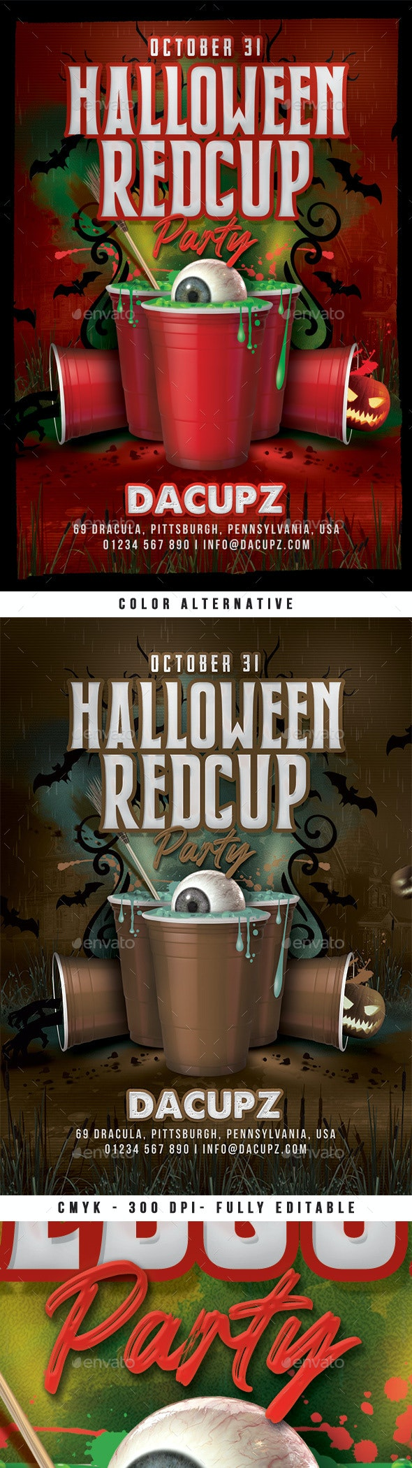 Halloween Red Cup Party Flyer - Clubs & Parties Events