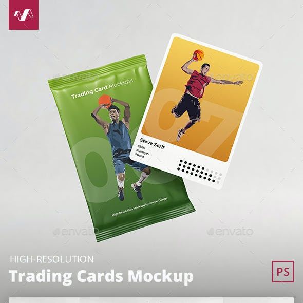 Trading Cards Mockup