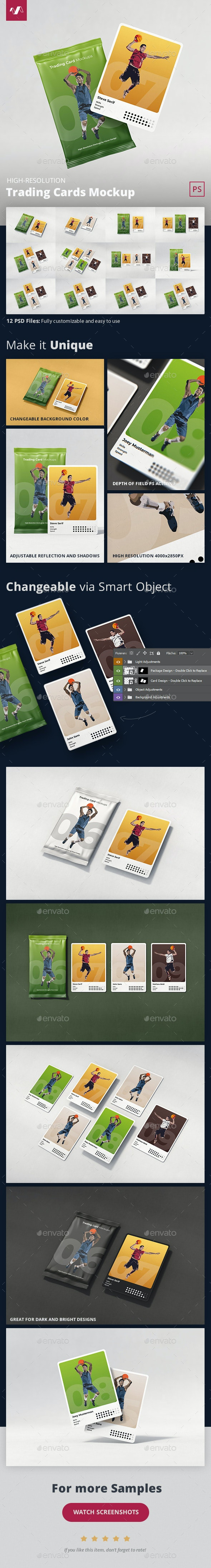 Trading Cards Mockup - Miscellaneous Packaging
