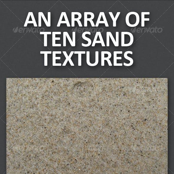 An Array of Ten Sand Textures