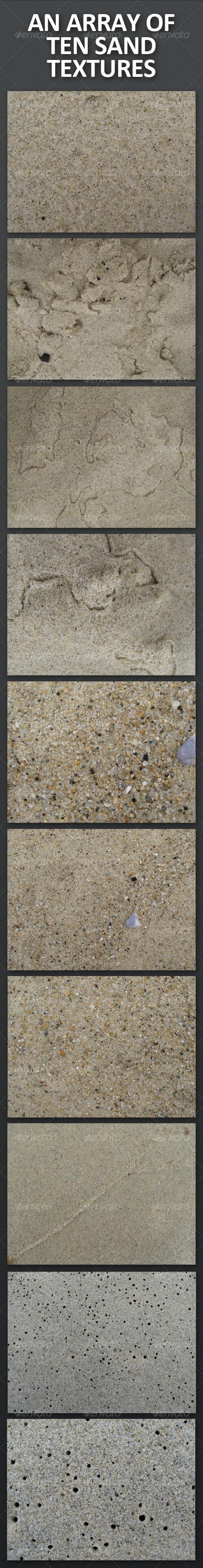 An Array of Ten Sand Textures - Nature Textures
