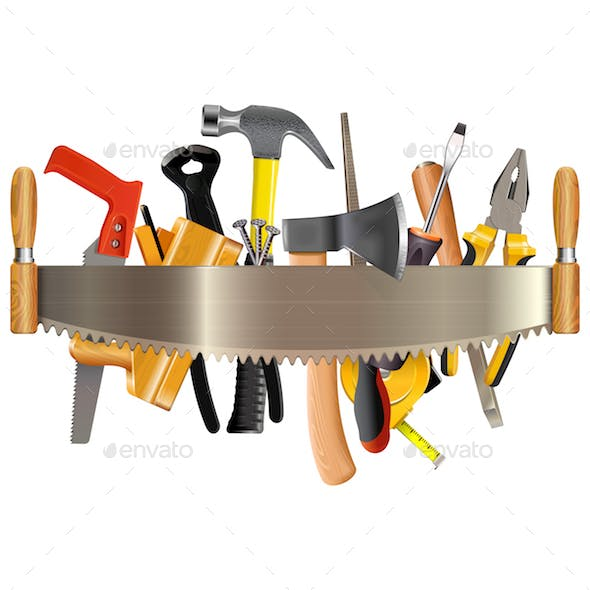 Vector Tools with Hand Saw