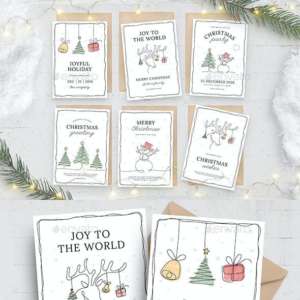 Minimal Christmas Card Flyers