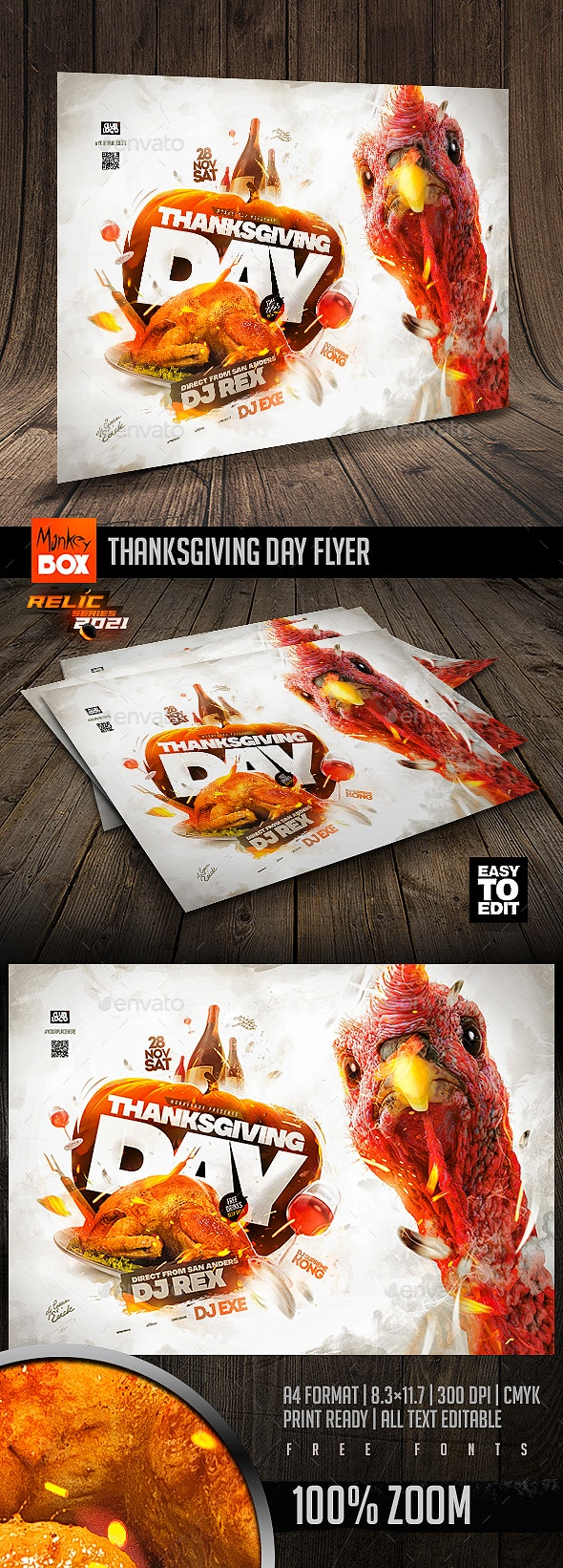 Thanksgiving Day Flyer - Events Flyers
