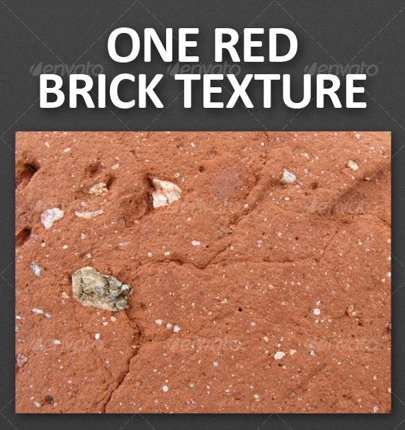 One Red Brick Texture - Concrete Textures