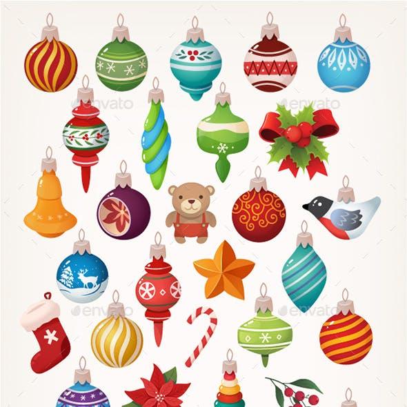 Collection of Vector Christmas Balls