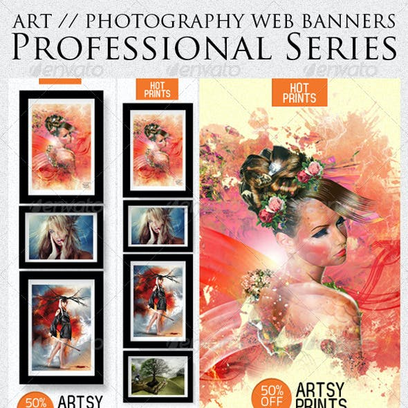 Art & Photography Web Banner Templates