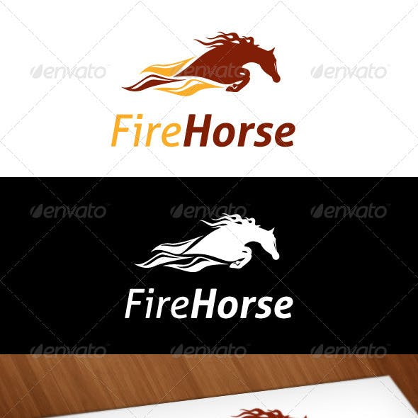 Fire Horse Logo Template
