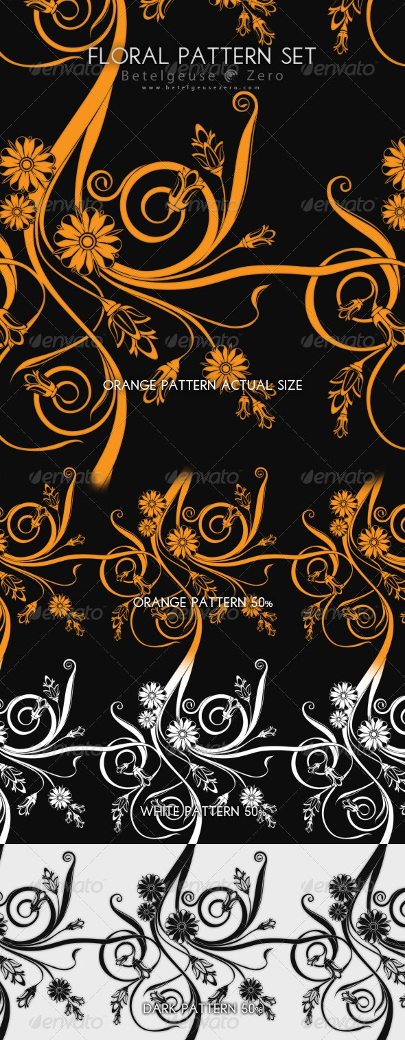 Floral Pattern Set - Artistic Textures / Fills / Patterns