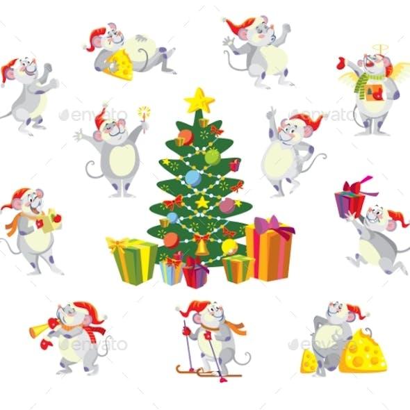 Christmas Mouses Set