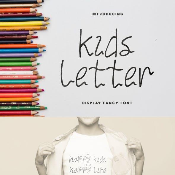 Kids Letter Unique Display Font