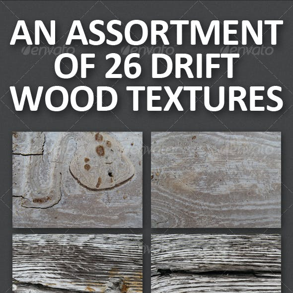 An Assortment of 26 Drift Wood Textures