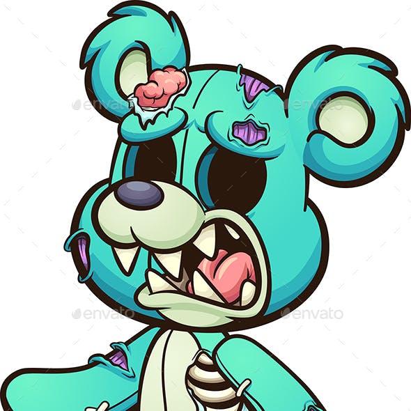 Green Zombie Bear