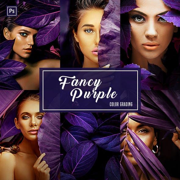 Fancy Purple (Color Grading) - Photoshop Action