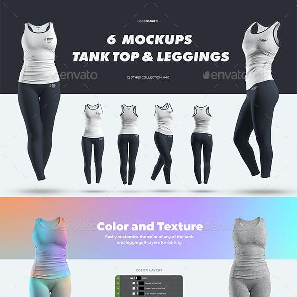 6 Mockups Tank Top and Leggings