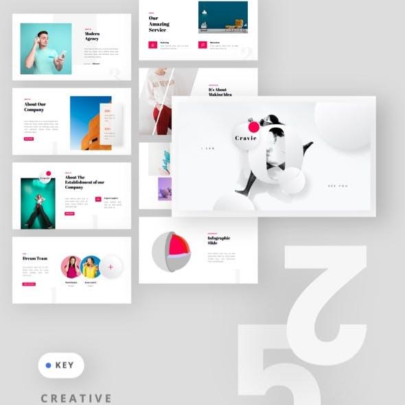 CRAVIE - Creative Modern & Minimalist Keynote Template