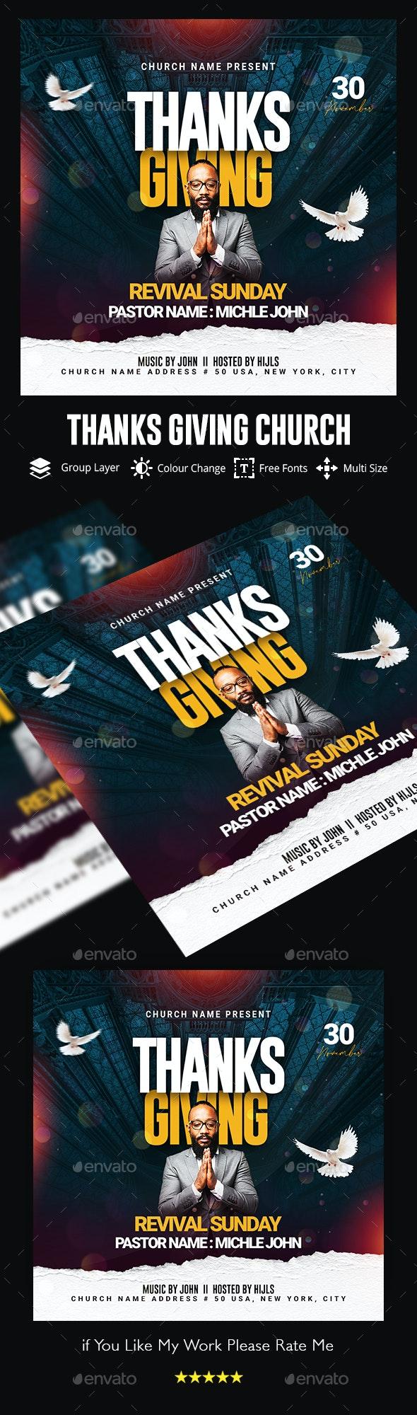 Thanksgiving Church Flyer - Church Flyers