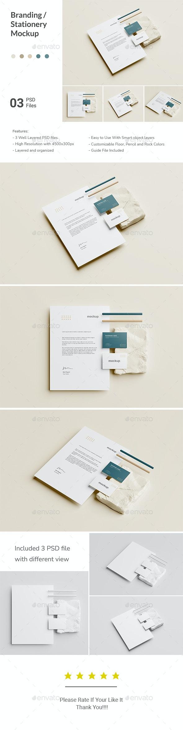Minimal Branding Stationery Mockup - Stationery Print