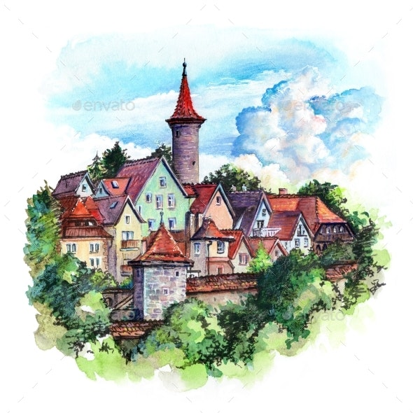 Rothenburg Ob Der Tauber Germany - Urban Backgrounds