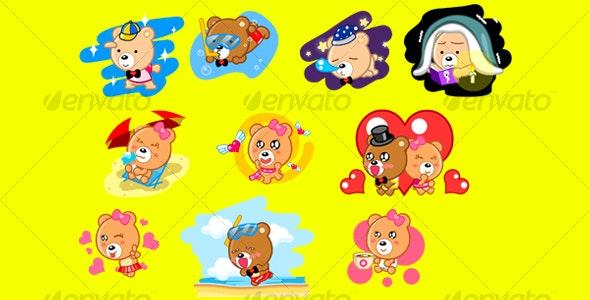 Cartoon Bear - Animals Characters