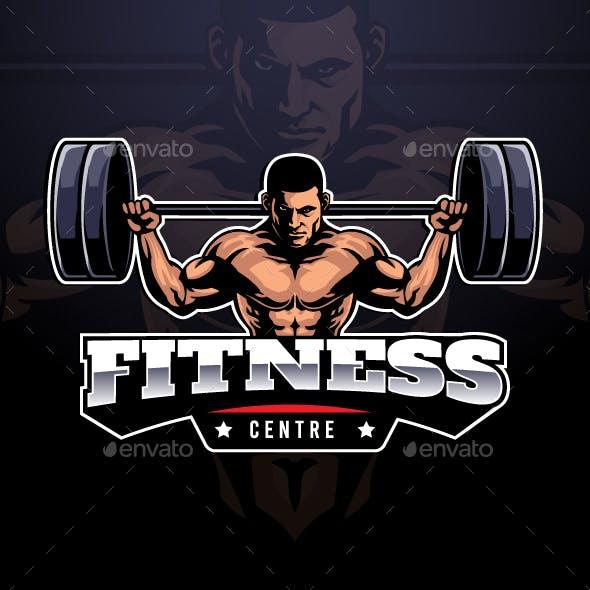 Bodybuilding Mascot Logo