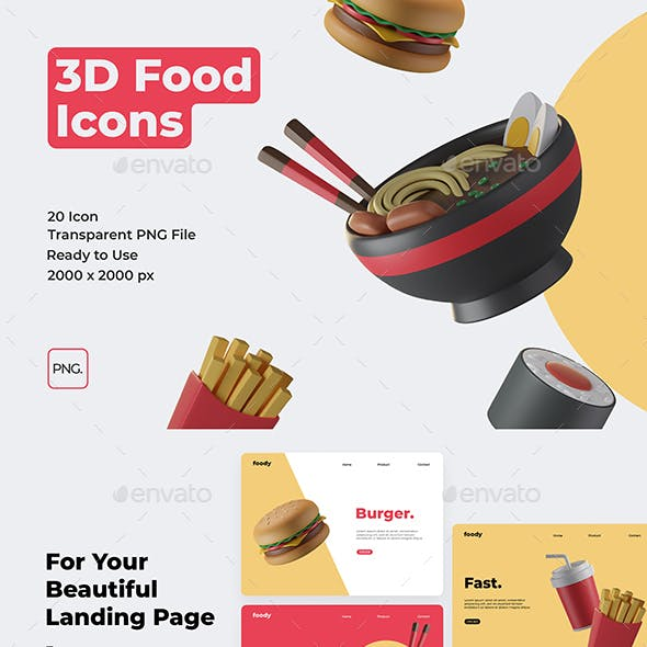 Food 3D Icons
