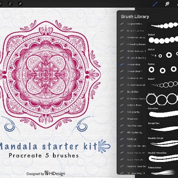 Procreate brushes: mandala starter kit