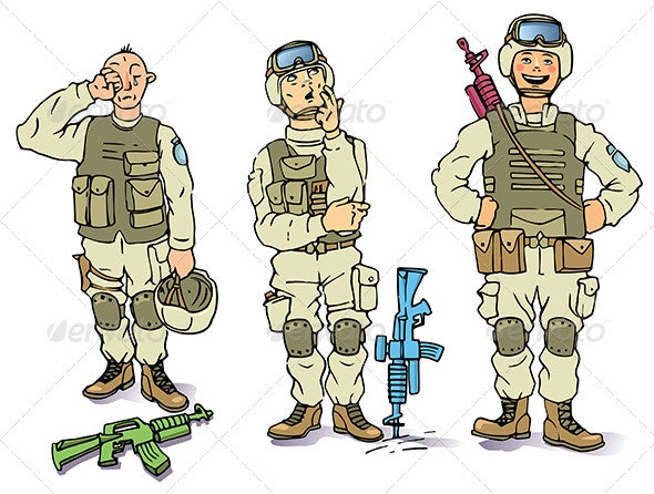 There Soldiers - People Characters