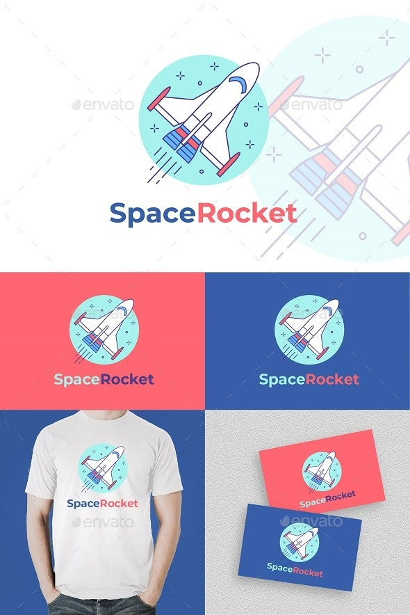 Space Rocket Logo - Objects Logo Templates