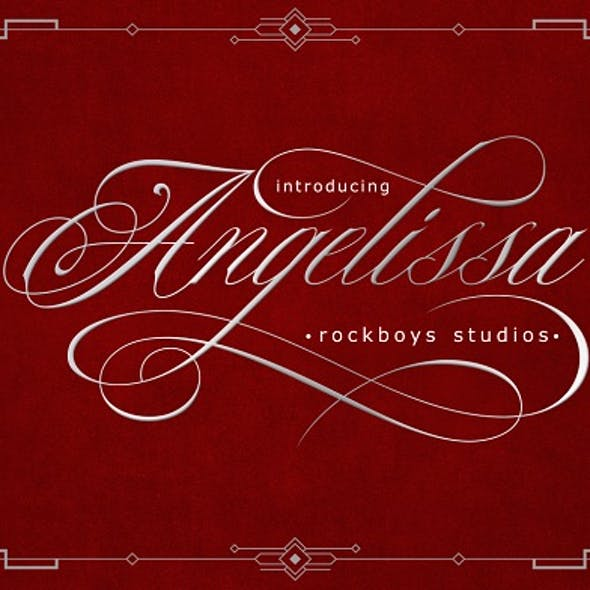 Angelissa // A Modern Calligraphy Font