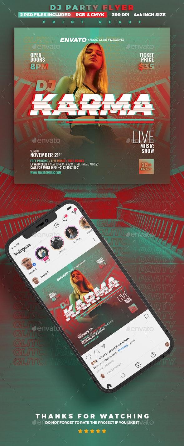 Glitch DJ Flyer - Clubs & Parties Events