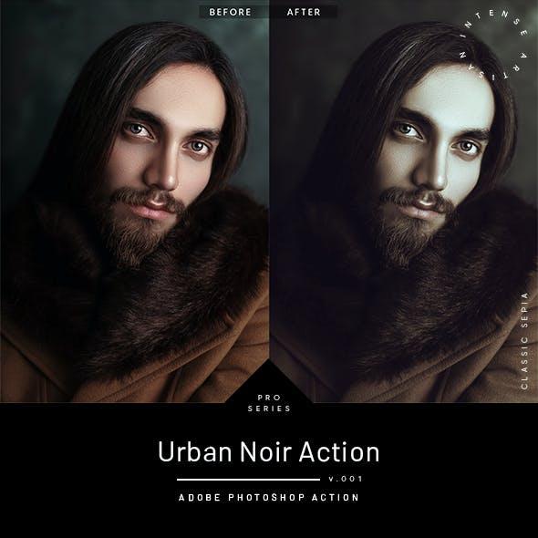 Urban Noir Action - Classic Sepia