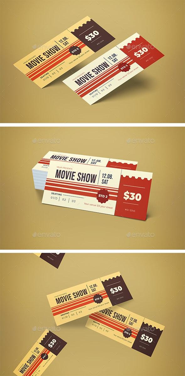 Ticket Movie Festival - Cards & Invites Print Templates